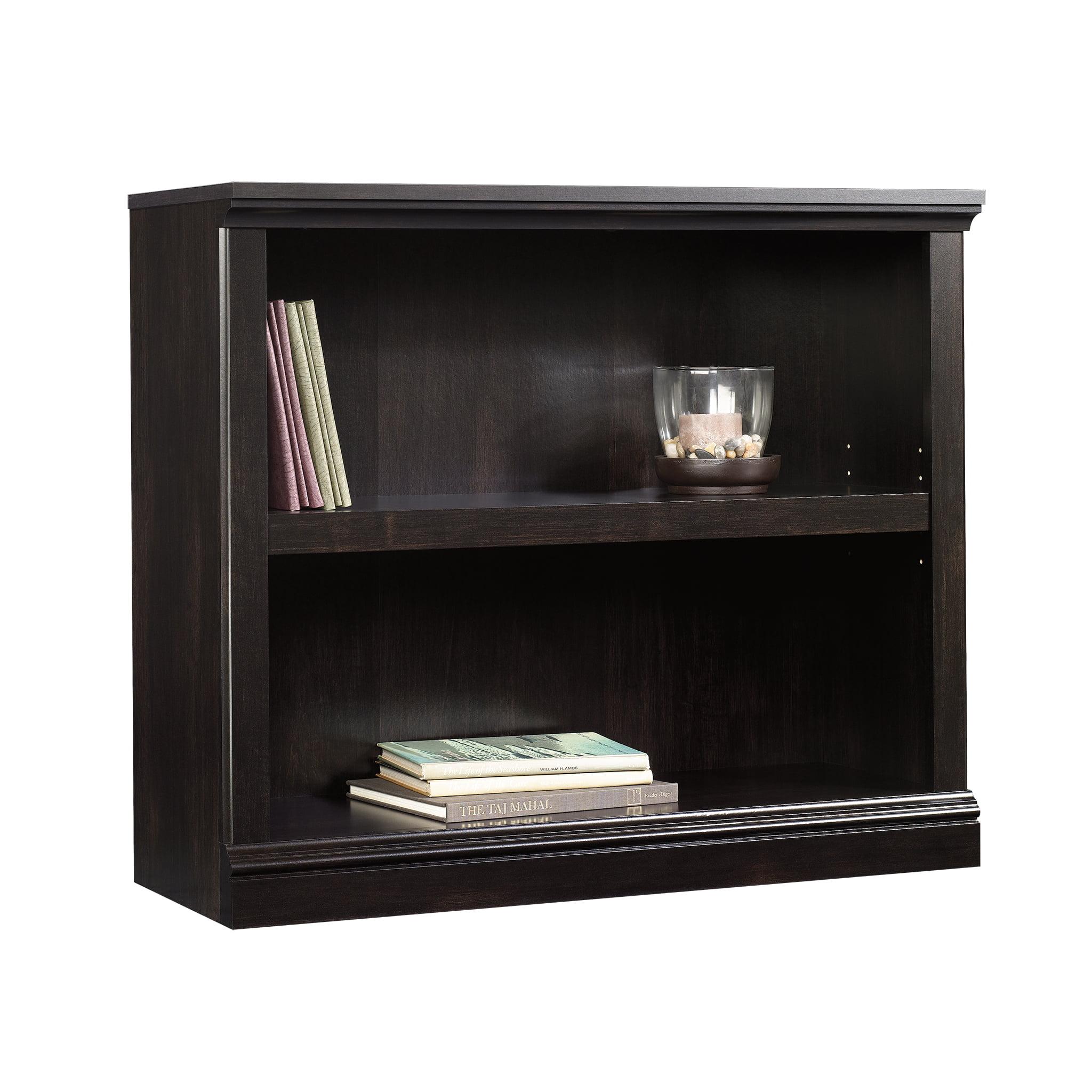 Sauder Select 2-Shelf Bookcase, Estate Black Finish - Walmart.com