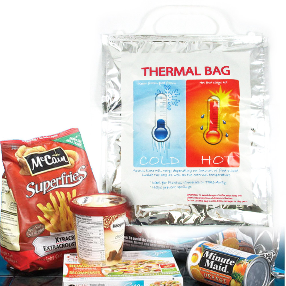 1 Small Insulated Foil Grocery Bag Hot Cold Reusable Thermal Food Storage Carry by PLOV RNKLIGH