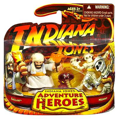 Indiana Jones Adventure Heroes Wave 1 Sallah & Mummy Mini Figure 2-Pack 40095