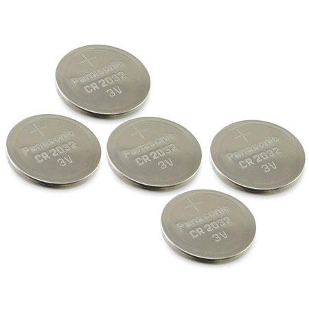(4pcs PLUS ONE FREE BATTERY) PANASONIC Cr2032 3v Lithium Coin Cell Battery for Misfit Shine Sh0az Personal Physical Activity Monitor by A World of - Cell Activity