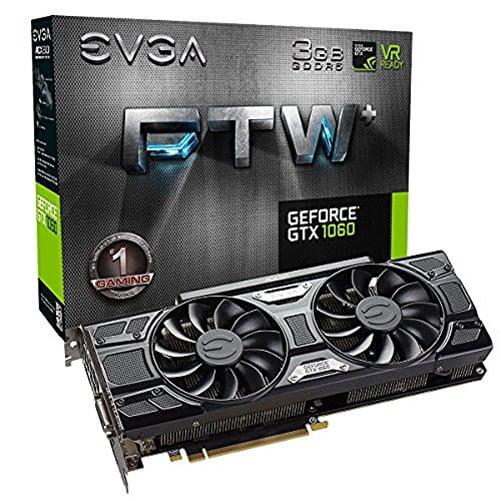 EVGA GeForce GTX 1060 3GB FTW+ GAMING ACX 3.0, 3GB GDDR5,...