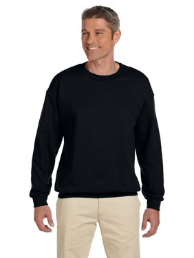 Branded Hanes 97 oz Ultimate Cotton 90/10 Fleece Crew - BLACK - M (Instant Saving 5% & more on min 2)