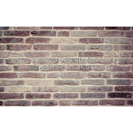 Jim Rohn - Famous Quotes Laminated POSTER PRINT 24x20 - There are only 3 colors, 10 digits, and 7 notes; its what we do with them that's important.](Halloween 3 Digit Addition)