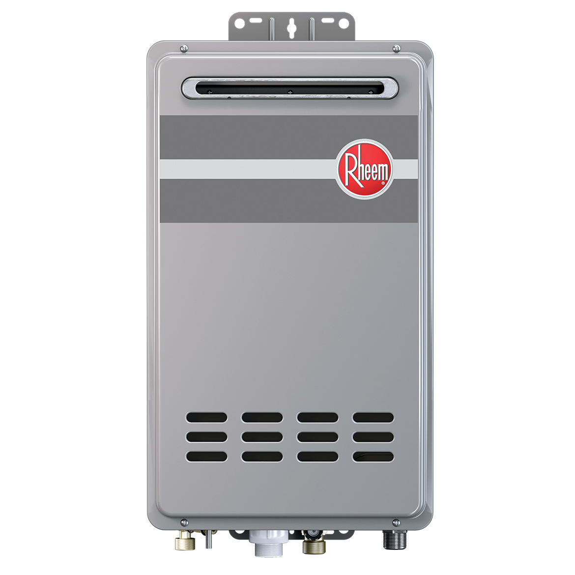 Rheem RTG-84XLN Outdoor Tankless Natural Gas Water Heater for 2 - 3 Bathroom Homes