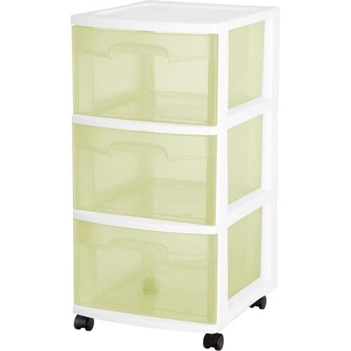 Sterilite 3-Drawer Medium Cart, Set of 2