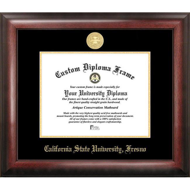 Cal State Fresno Gold Embossed Diploma Frame