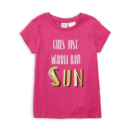 Little Girl's Just Wanna Have Sun Tee (Short Bob Hairstyles For Women Over 60)