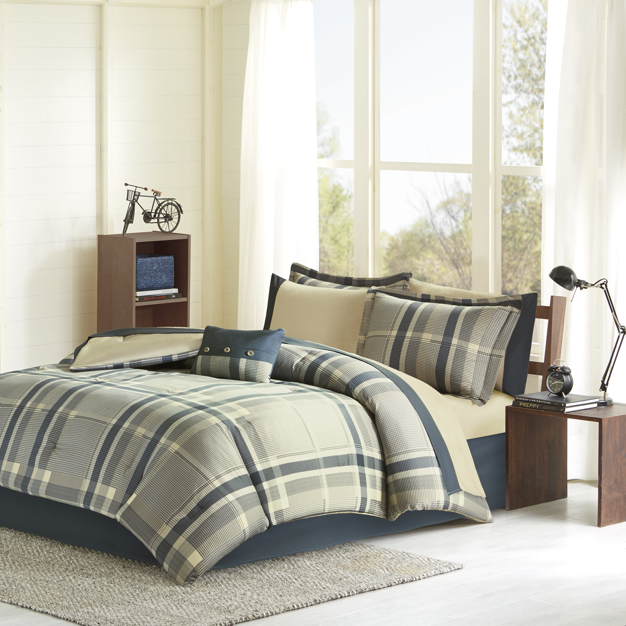 Home Essence Apartment Rick Comforter and Sheet Set