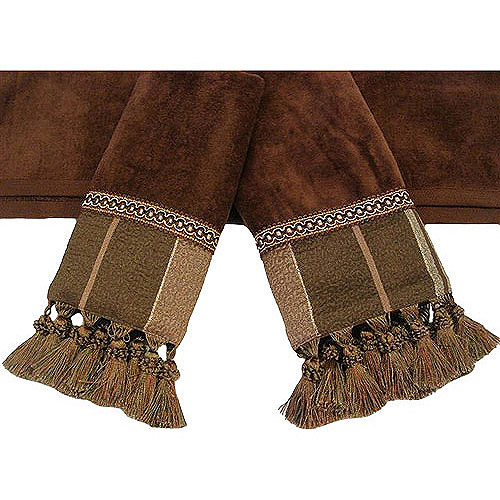 Easy Living Chambord Brown 3-Piece Decorative Towel Set