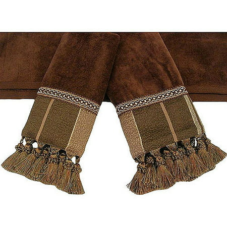 Easy Living Chambord Brown 3 Piece Decorative Towel Set