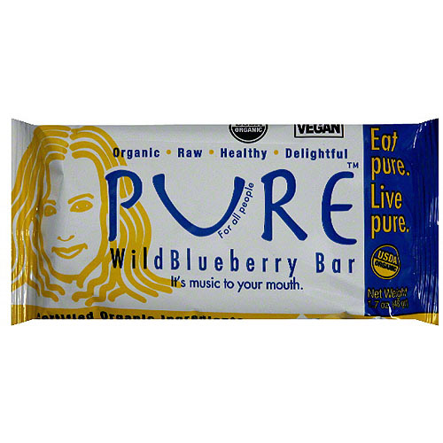 Pure Wild Blueberry Fruit & Nut Bar, 1.7 oz (Pack of 12)