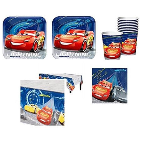 Disney Cars 3rd Birthday Party Supplies 16 Guest Kit - Shipped Fedex Express (Car Birthday Ideas)
