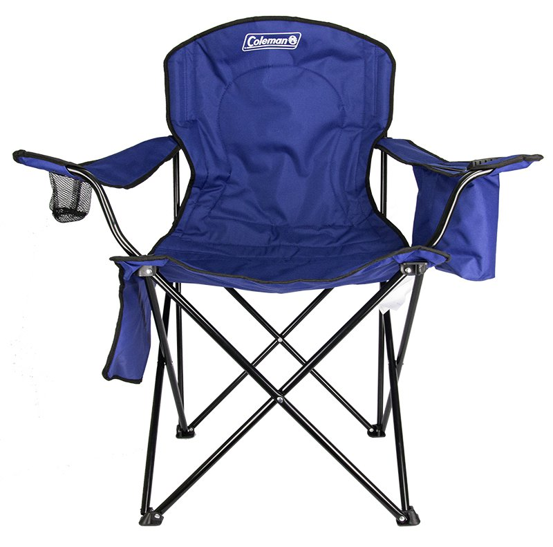 Coleman Camping - Lawn Chair w/Built-In Cooler And Cup Holder, Blue | 2000020266