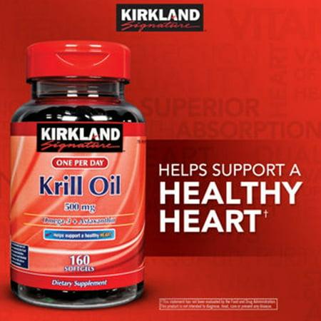 Kirkland One Per Day Krill Oil 500Mg  160 Softgels