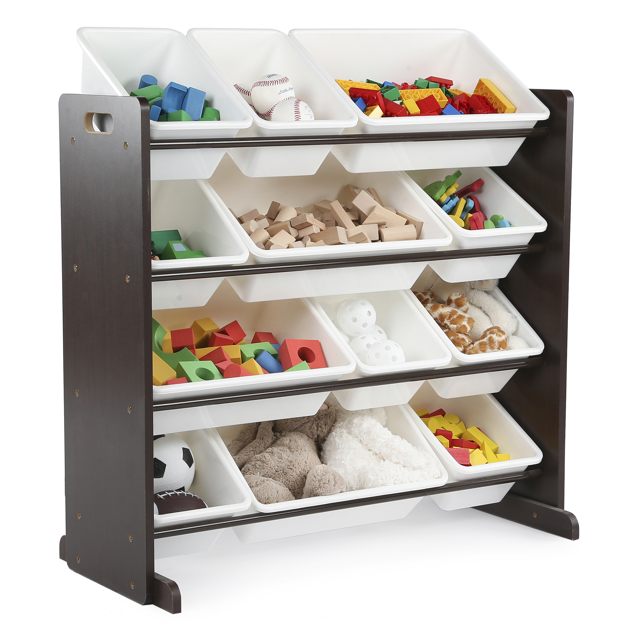 Delicieux Tot Tutors Kids Toy Storage Organizer With 12 Plastic Bins, Multiple Colors    Walmart.com