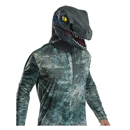 Jurassic World: Fallen Kingdom Deluxe Velociraptor Adult Overhead Latex Mask Halloween Costume Accessory - Overhead Masks