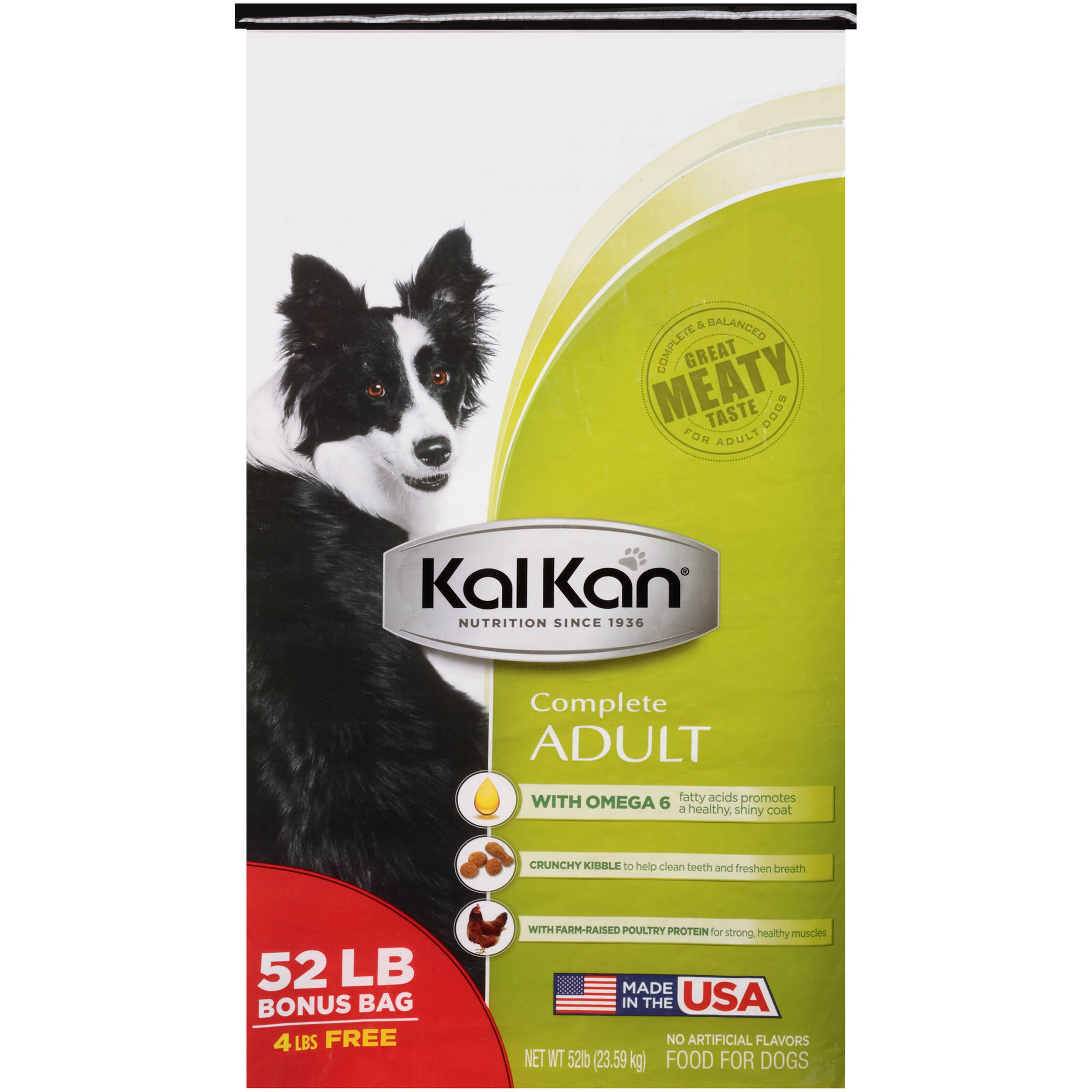 Kal Kan 174 Complete Adult Dog Food 52 Lb Bag Walmart Com