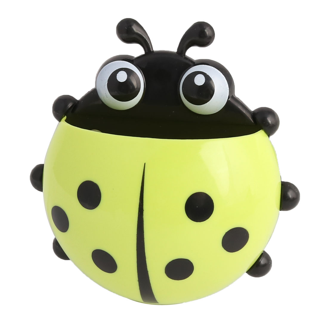 Uxcell Bathroom Plastic Ladybird Pattern Suction Cup Toothbrush Soap Holder Yellowgreen