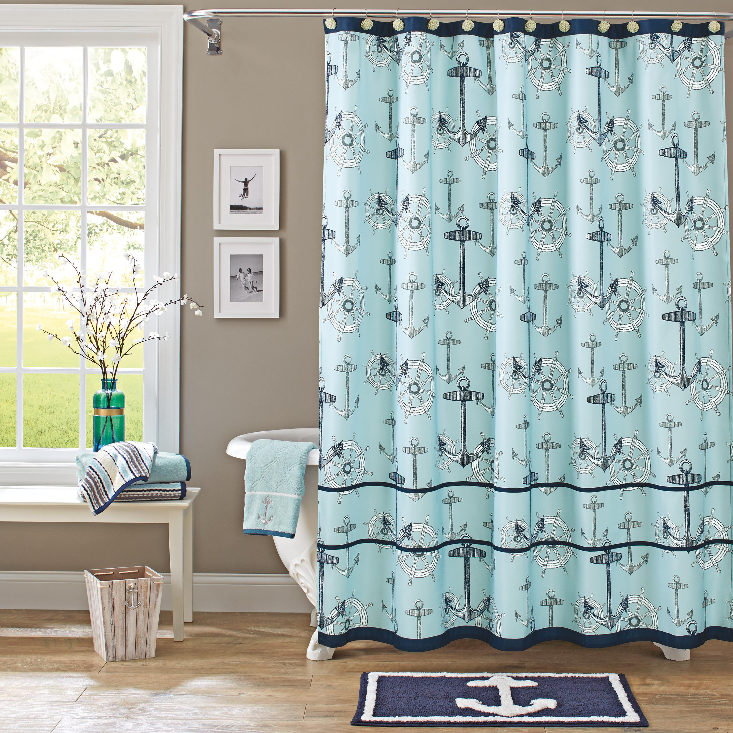 Better Homes & Gardens Nautical Shower Curtain with Ribbon, 1 Each