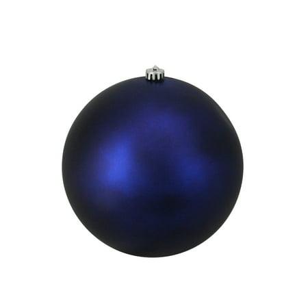"Matte Blue Shatterproof Commercial Christmas Ball Ornament 10"" (250mm) - image 1 de 1"