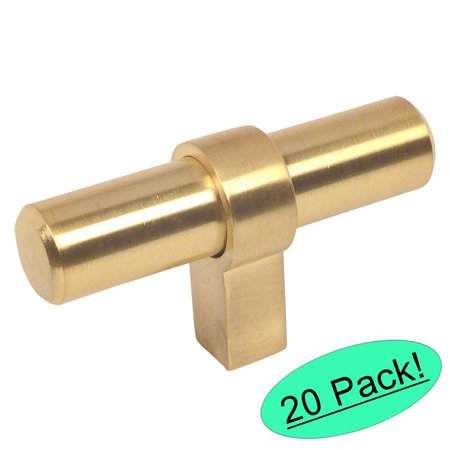 - Cosmas 181BB Brushed Brass Cabinet Bar Handle Pull Knob - 2-3/8' Long - 20 Pack