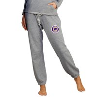Washington Huskies Concepts Sport Women's Mainstream Knit Jogger Lounge Pants - Heather Gray