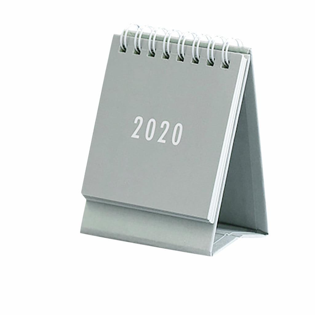 2020 Desk Desktop Calendar Plan Hand Drawing Mini Stand Table Planner Office