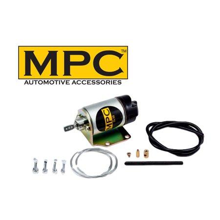 MPC Heavy Duty 80 LB Door Popper Solenoid - Mounting Bracket & Hardware Included