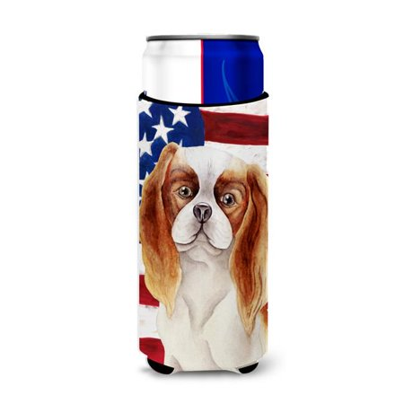 Cavalier Spaniel Patriotic Michelob Ultra Hugger for Slim Cans - image 1 de 1