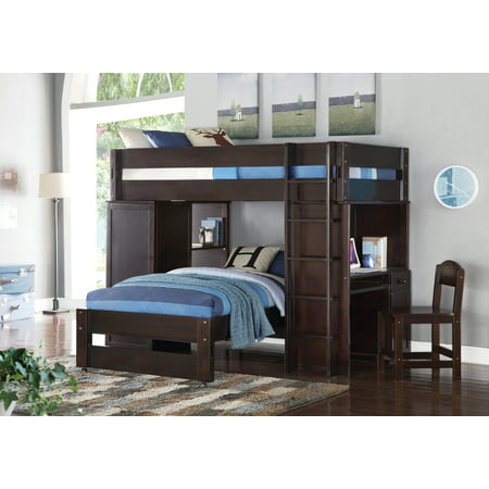 Astounding Acme Lars Wooden Frame Loft Bed Twin Bed In Wenge Pdpeps Interior Chair Design Pdpepsorg