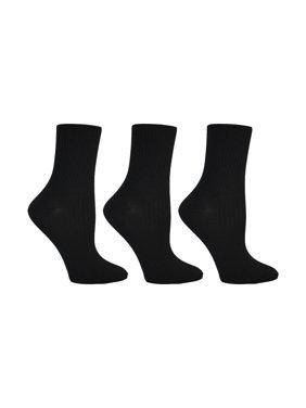Steve Madden Women's Super Soft Thin Rib Crew Socks, 3-Pack