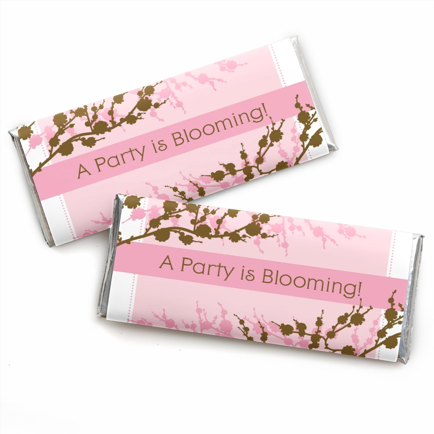 Cherry Blossom - Candy Bar Wrappers Party Favors - Set of 24 ...