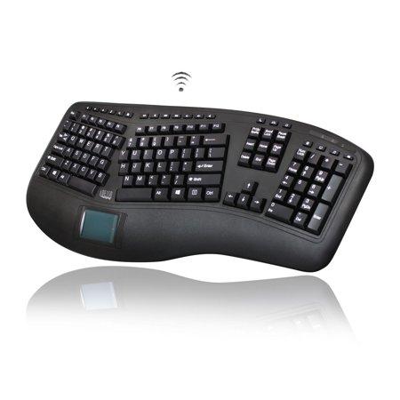Adesso Tru-Form 4500 - 2.4GHz Wireless Ergonomic Touchpad Keyboard