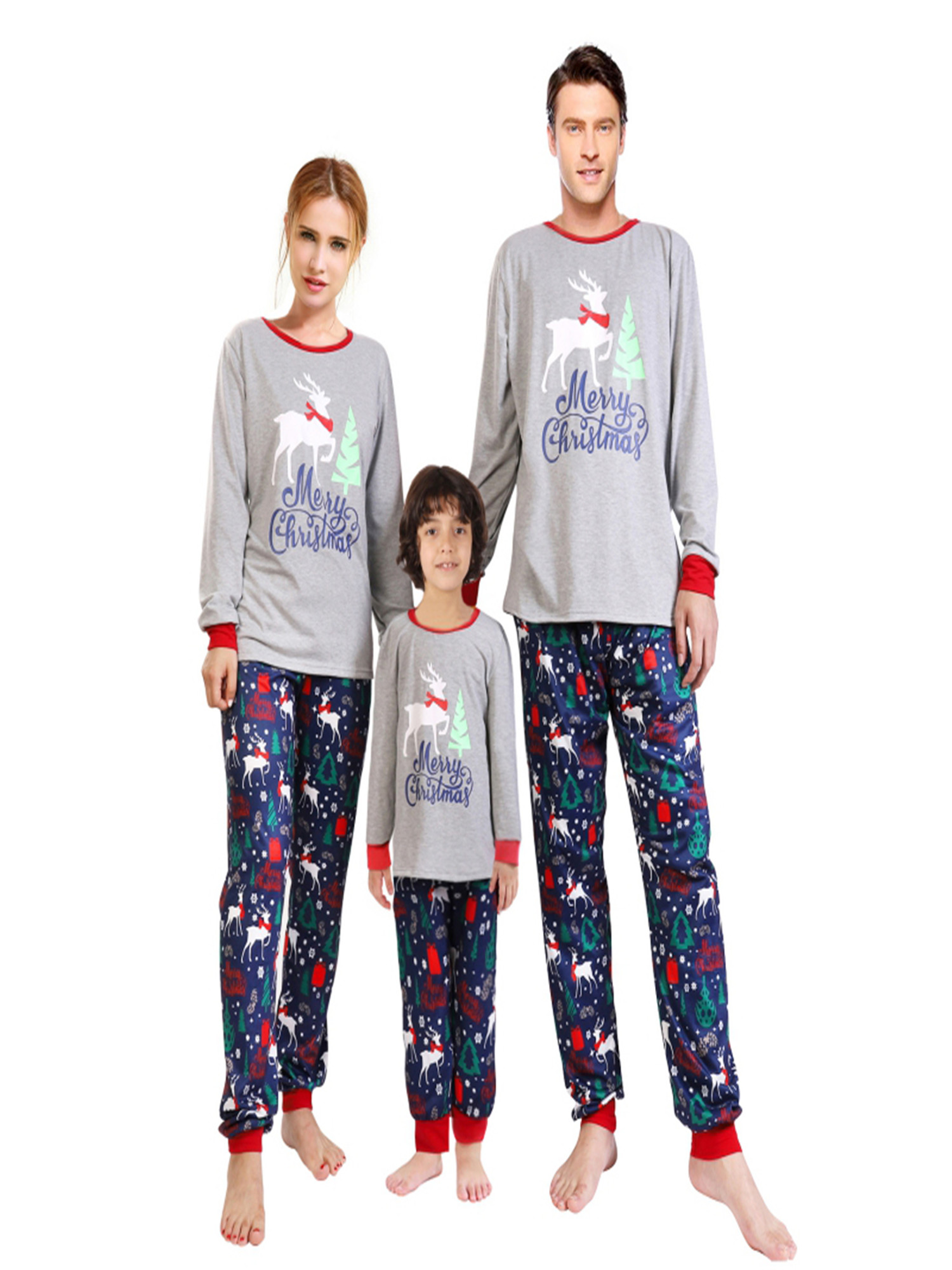 Details about  /Christmas Family Matching Pajamas Set Santa/'s Deer Sleepwear for The Family Boys