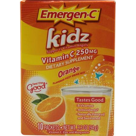 ® Kidz® Vitamine C 250mg Complément alimentaire orange Boisson Mélanger 10-033 oz Boîte