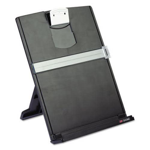 3M Fold-Flat Freestanding Black Desktop Copyholder, Plastic (MMMDH340MB) by