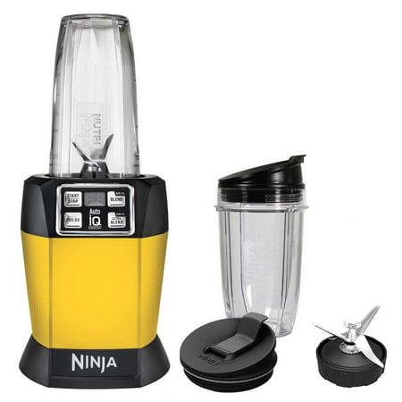 Ninja Auto-iQ Nutri Ninja 1000W Blender, Yellow, (Certified Refurbished) (Refurbished)