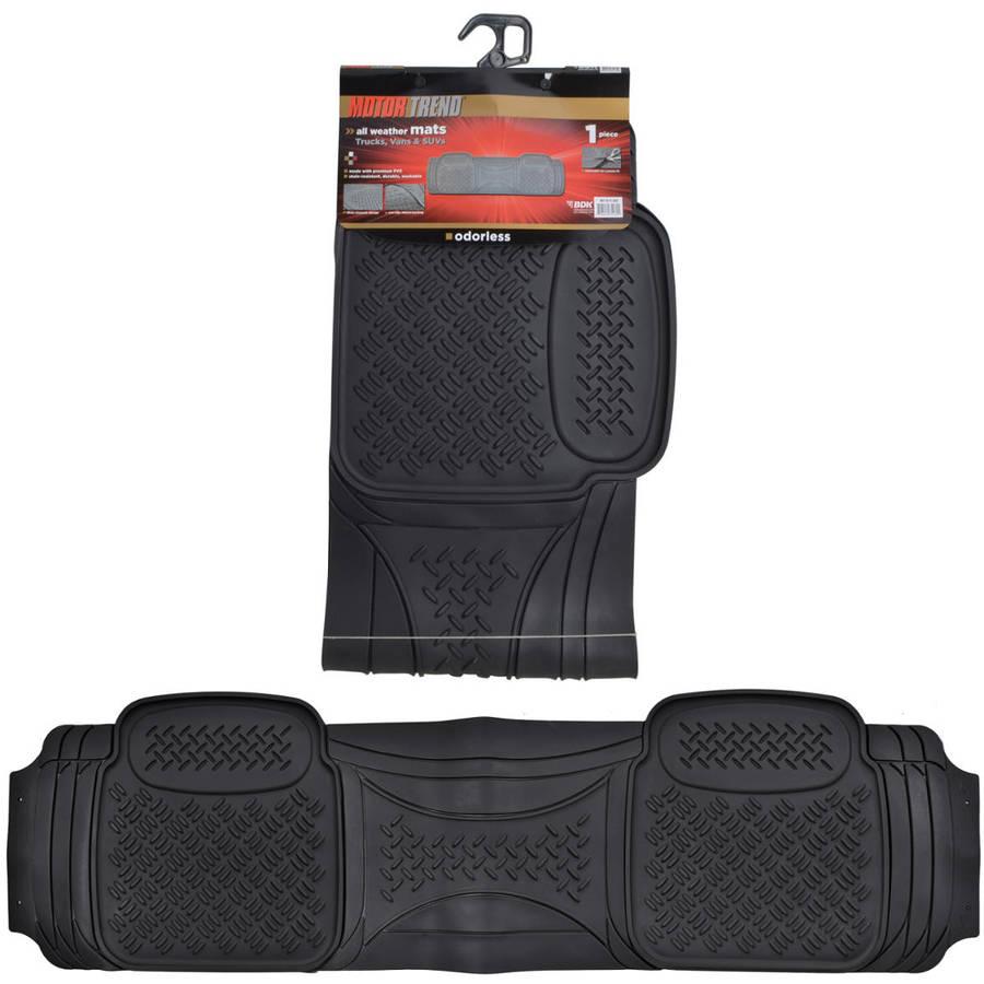 Motor Trend Odorless 1 Piece Floor Mat Liner, Heavy-Duty, Trimmable, Black