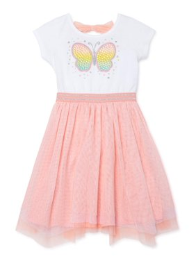 Forever Me Toddler Girl Butterfly Handkerchief Hem Tutu Dress