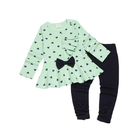 Cute Toddler Girls (Fall Clothes Baby Girl Cute Children Clothes Suit Top And Pants 2pcs Set)