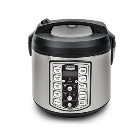 aroma professional plus arc-5000sb 20-cup (cooked) digital rice cooker, food steamer, slow cooker, stainless exterior/nonstick (Best Pot To Cook Rice)