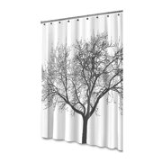 Shower Curtain Tree Design Mildew Resistant 72 x 72 Washable Shower Curtain Liner Anti Bacterial Waterpoof Eco Friendly Bath Shower Curtain for Bathroom Polyester Heavy Duty Rustproof Metal Grommets