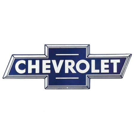 - Chevrolet Blue Embossed Metal Sign