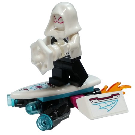 LEGO Marvel Spider-Man Ghost Spider (Spider-Gwen) Minifigure [with Hover Board] [No Packaging] - Spiderman And Gwen