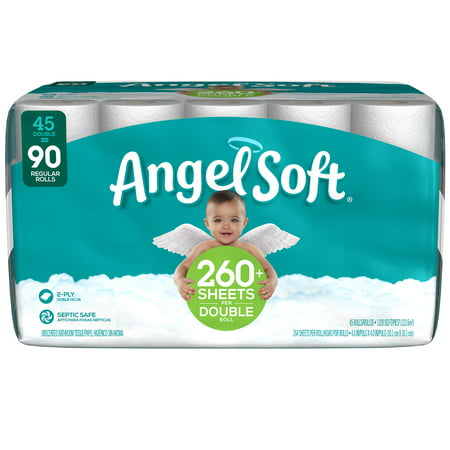 Angel Soft Toilet Paper, 45 Double Rolls