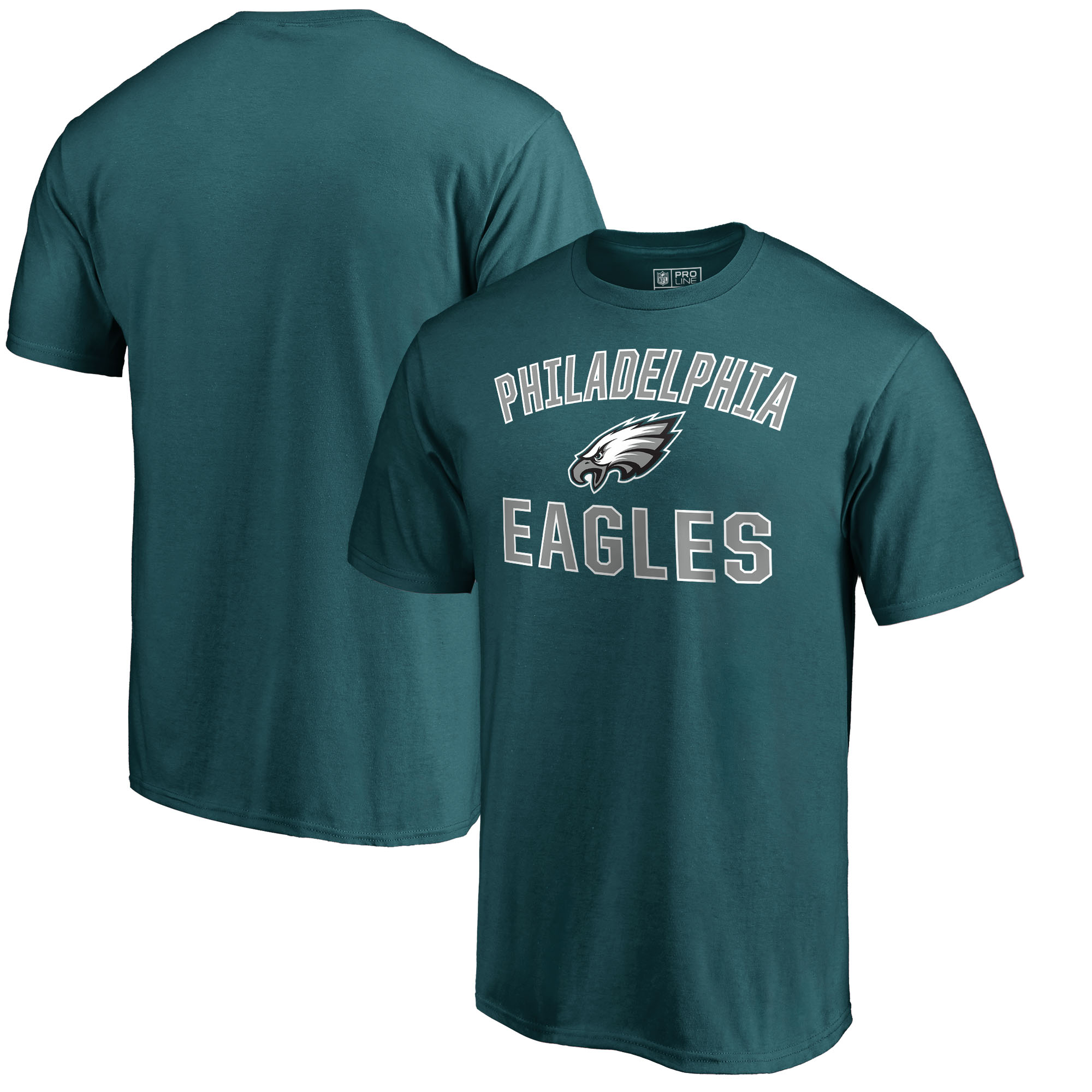 Philadelphia Eagles NFL Pro Line by Fanatics Branded Victory Arch T-Shirt - Midnight Green