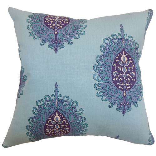 The Pillow Collection Perigueux Damask Cotton Throw Pillow