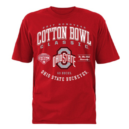 2017 Goodyear Cotton Bowl Ohio State Buckeyes Short Sleeve Tee Large