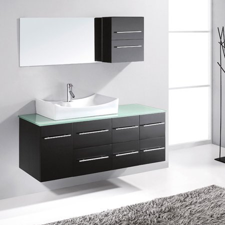 Virtu Usa Ceanna 54 Inch Single Sink Bathroom Vanity Set Walmartcom