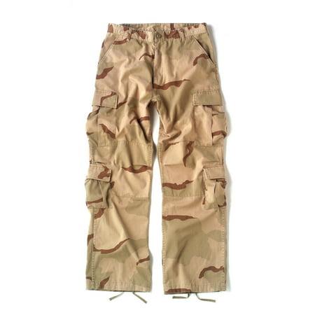 Us Style Bdu Pants - Vintage Paratrooper Cargo Pants in Desert Camo BDUs
